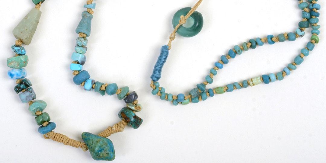 Roman Glass, Kathleen O'Brien, beaded necklace detail