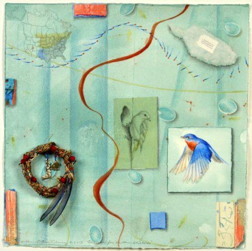 "Kathleen O'Brien, ""Talisman for Eastern Bluebirds"""
